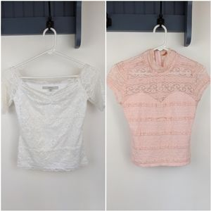 Bundle of Two Guess Los Angeles Lace Tops
